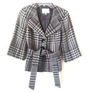 Classique Entier gray orange belted jacket size S